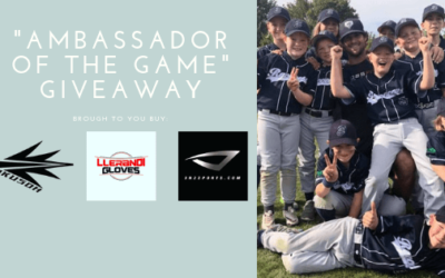"""2019 BBJO """"Ambassador of the Game"""" Giveaway featuring a free custom glove and bat"""