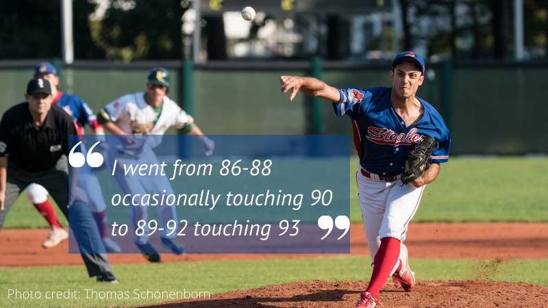 At 26, a recent jump in velo leads to first professional baseball contract